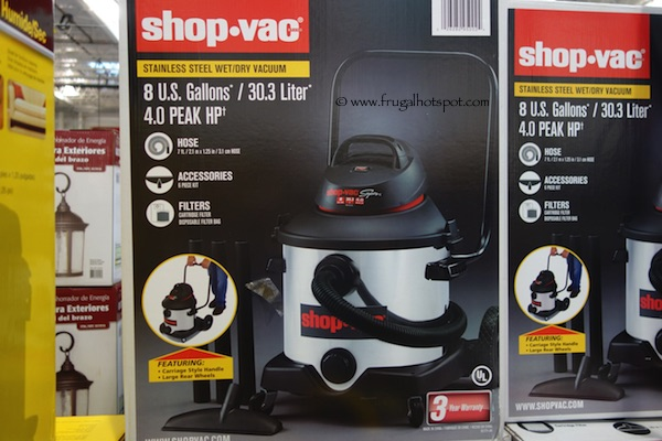 Shop-Vac Stainless Steel Wet / Dry Vacuum 8 Gallons Costco