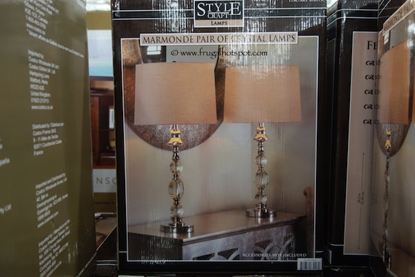Stylecraft Marmonte 2-Pair Crystal Table Lamp Costco