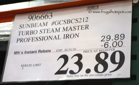 Sunbeam Digital Turbo Steam Iron Costco Price