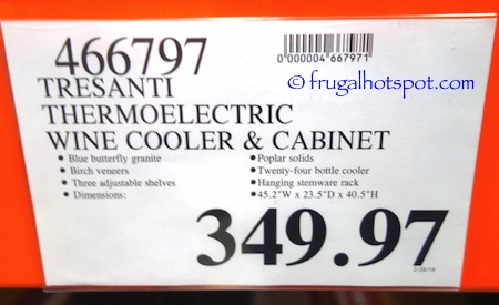 Costco Clearance Tresanti Zinfandel Thermoelectric Wine