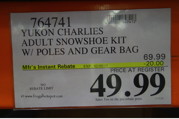 Yukon Charlie's Snowshoe Kit with Poles & Gear Bag Costco Price