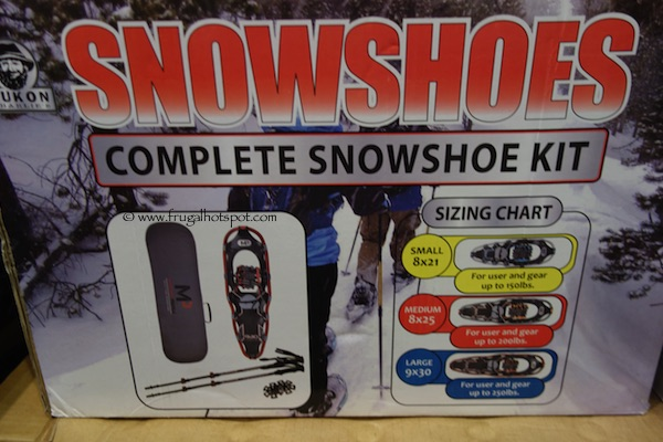 Yukon Charlie's Men's Snowshoe Kit with Poles & Gear Bag Costco