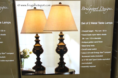 Bridgeport Designs Sedona Metal Table Lamp Set of 2 Costco - Costco: Bridgeport Designs Sedona Metal Table Lamps Set Of 2