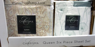 Charisma Queen 6-Piece Polyester Sheet Set Costco