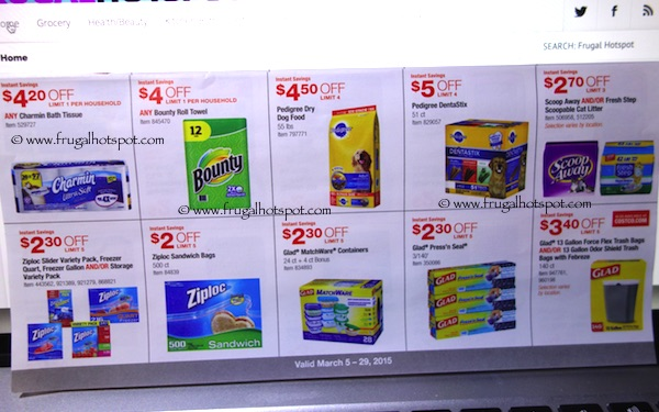 Page 10. Costco Coupon Book: March 5, 2015 - March 29, 2015.