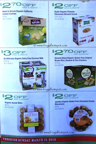 Costco ORGANIC Coupon Book: February 16, 2015 - March 15, 2015