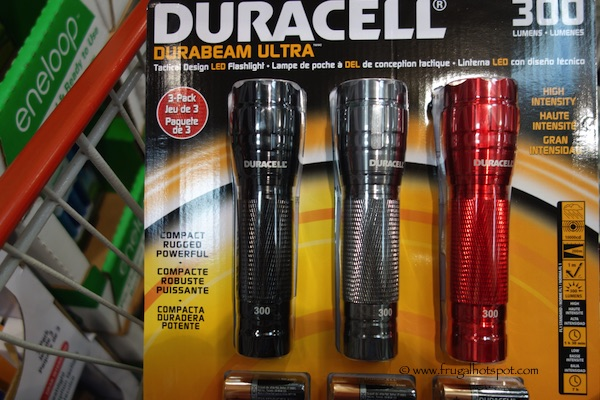 Duracell Durabeam Ultra 3-Pack LED Flashlights 300 Lumens Each Costco