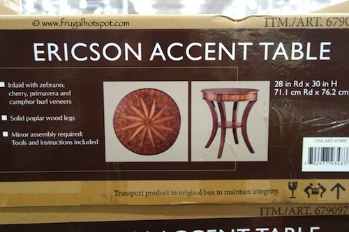 Global Direct Ericson Accent Table Costco