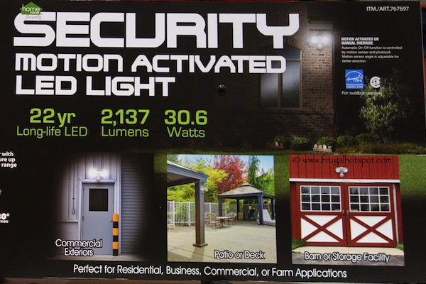 Home Zone Security Motion Activated LED Light Costco