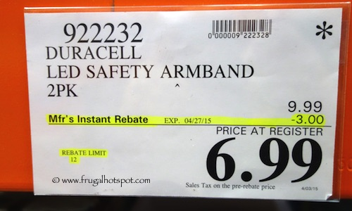 Duracell LED Safety Armband 2 Pack Costco Price