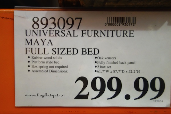 Costco: Universal Furniture Maya Full Size Bed | Frugal Hotspot