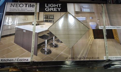Neo Tile Urban Groove Light Grey Porcelain Tile 10 Sq Ft Costco