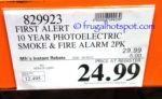Costco Sale Price: First Alert Photoelectric Smoke & Fire Alarm 2-Pack