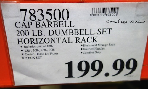 CAP 200 lb Dumbbell Set with Rack Costco Price