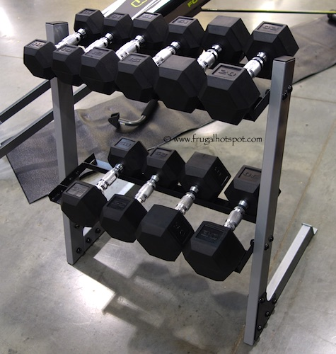 CAP 200 LB Dumbbell Set with Rack Costco