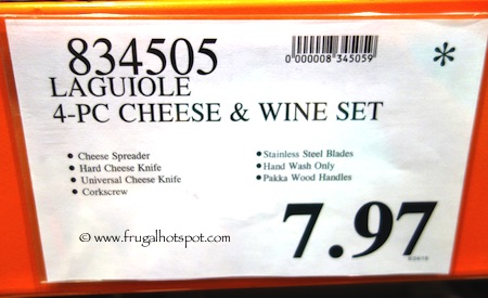 Laguiole 4-Piece Wine and Cheese Set Costco Price