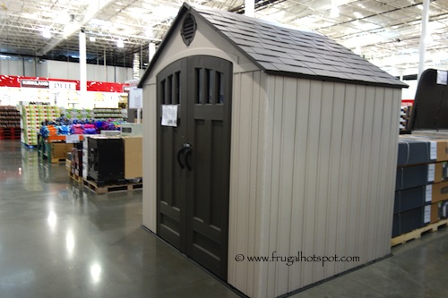 Lifetime 8' x 6.5' Resin Outdoor Storage Shed Costco