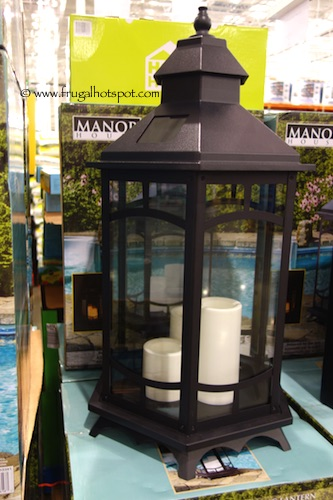 costco 33 manor house solar flickering lantern frugal hotspot. Black Bedroom Furniture Sets. Home Design Ideas