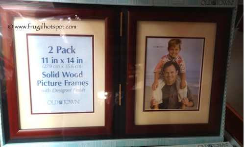 old town 11x14 designer solid wood picture frame 2 pack costco