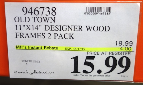 Old Town 11 X 14 Designer Wood Picture Frames 2 Pack Costco Price