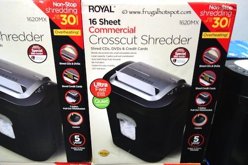 Royal 16 Sheet Commercial Crosscut Shredder Costco