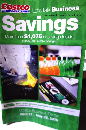 Costco Business Center Coupon Book April 27, 2015 - May 23, 2015.