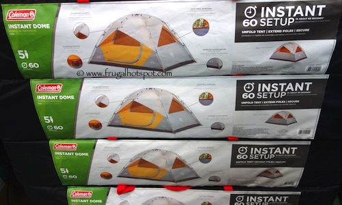 Costco Sale: Coleman 5-Person Instant Dome Tent 10′ x 7′ $59.99