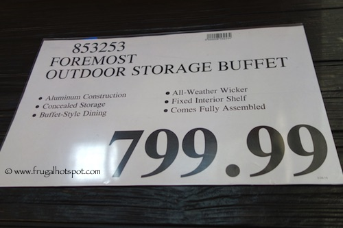 Foremost Outdoor Storage Buffet Costco Price
