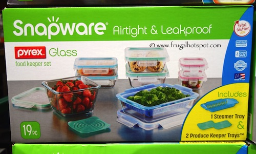 Snapware Pyrex Glass Food Storage 19, Glass Food Containers Costco