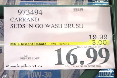 AutoSpa Suds N Wash Brush Set Costco Price