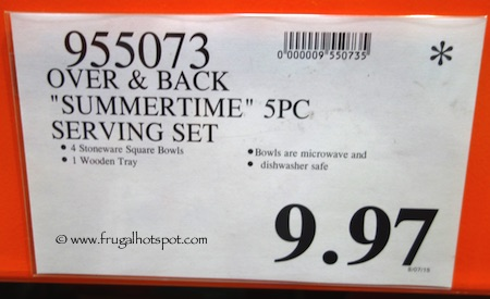 Over and Back Summertime 5-Piece Serving Set Costco Price
