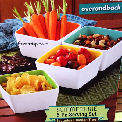 Over and Back Summertime 5 Piece Serving Set Costco