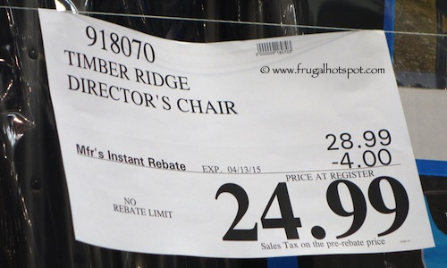 Timber Ridge Director's Chair with Side Table Costco Price