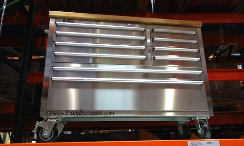 """Trinity 48"""" Stainless Steel Rolling Workbench Costco"""
