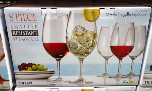 8 Piece Shatter Resistant Stemware Clear Costco
