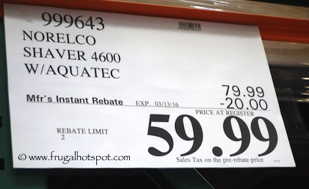 Philips Norelco Shaver AT880/43 Costco Price   Frugal Hotspot
