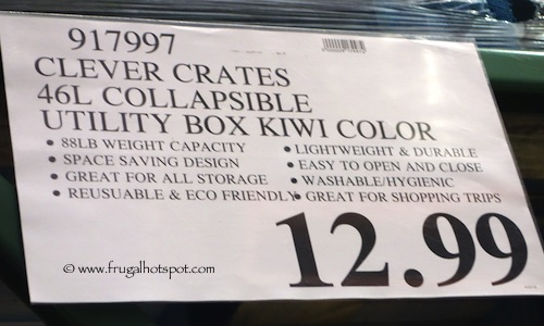 Clever Crates 46L Collapsible Utility Box Costco Price