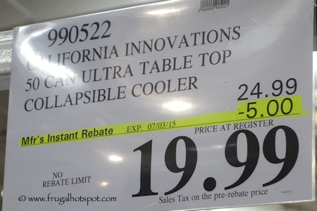 California Innovations Ultra Tabletop Collapsible Cooler Costco Price