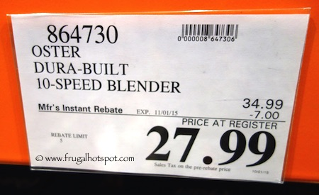 Oster Dura-Built Blender Costco Price