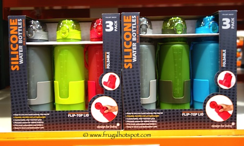 Lifetime 3-Pack Silicone Water Bottles Costco