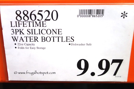 Lifetime 3-Pack Silicone Water Bottles Costco Price