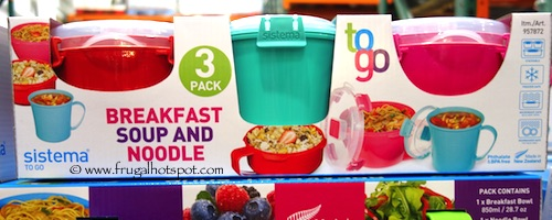Sistema To Go Breakfast, Soup & Noodle Bowl 3-Pack Costco