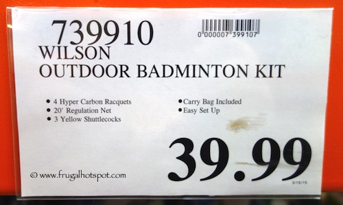 Wilson Outdoor Badminton Set Costco Price