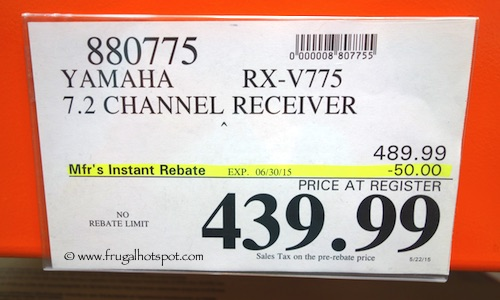 Yamaha 7.2 Channel Receiver RX-V775BT Costco Price