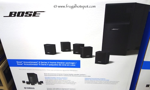 Bose Acoustimass 6 Series V Home Theater Yamaha Bundle Costco