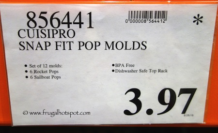 Cuisipro Snap-Fit Rocket & Sailboat Pop Molds Costco Price
