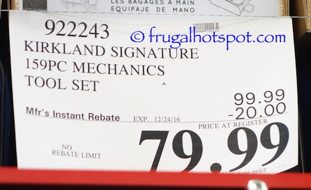 kirkland signature 159-piece mechanics tool set | costco price ...