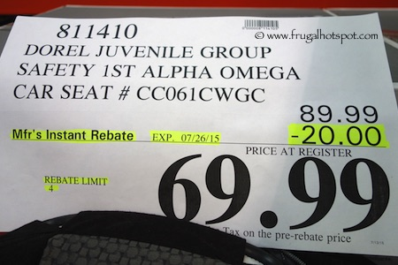 Safety First Alpha Omega Elite 3 In 1 Car Seat Costco Price
