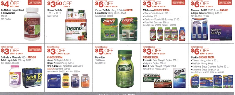 Costco Coupon Book August 6, 2015 - August 30, 2015. Page 15