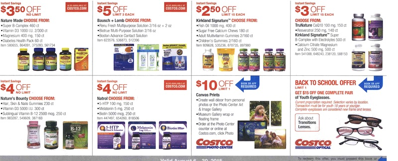 Costco Coupon Book August 6, 2015 - August 30, 2015. Page 16